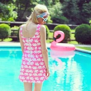 Lilly Pulitzer Delia Shift Dress Tusk Sun Pop Pink